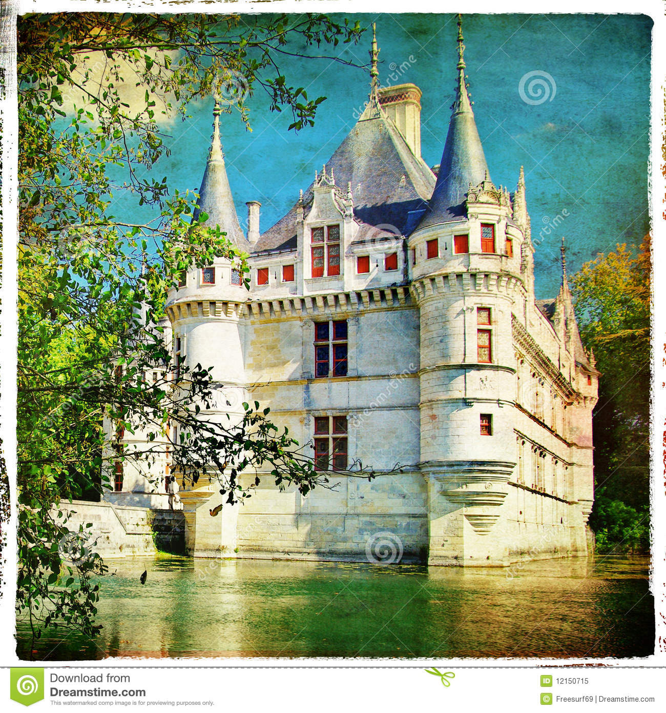 azay le rideau castle royalty free stock photo image. Black Bedroom Furniture Sets. Home Design Ideas