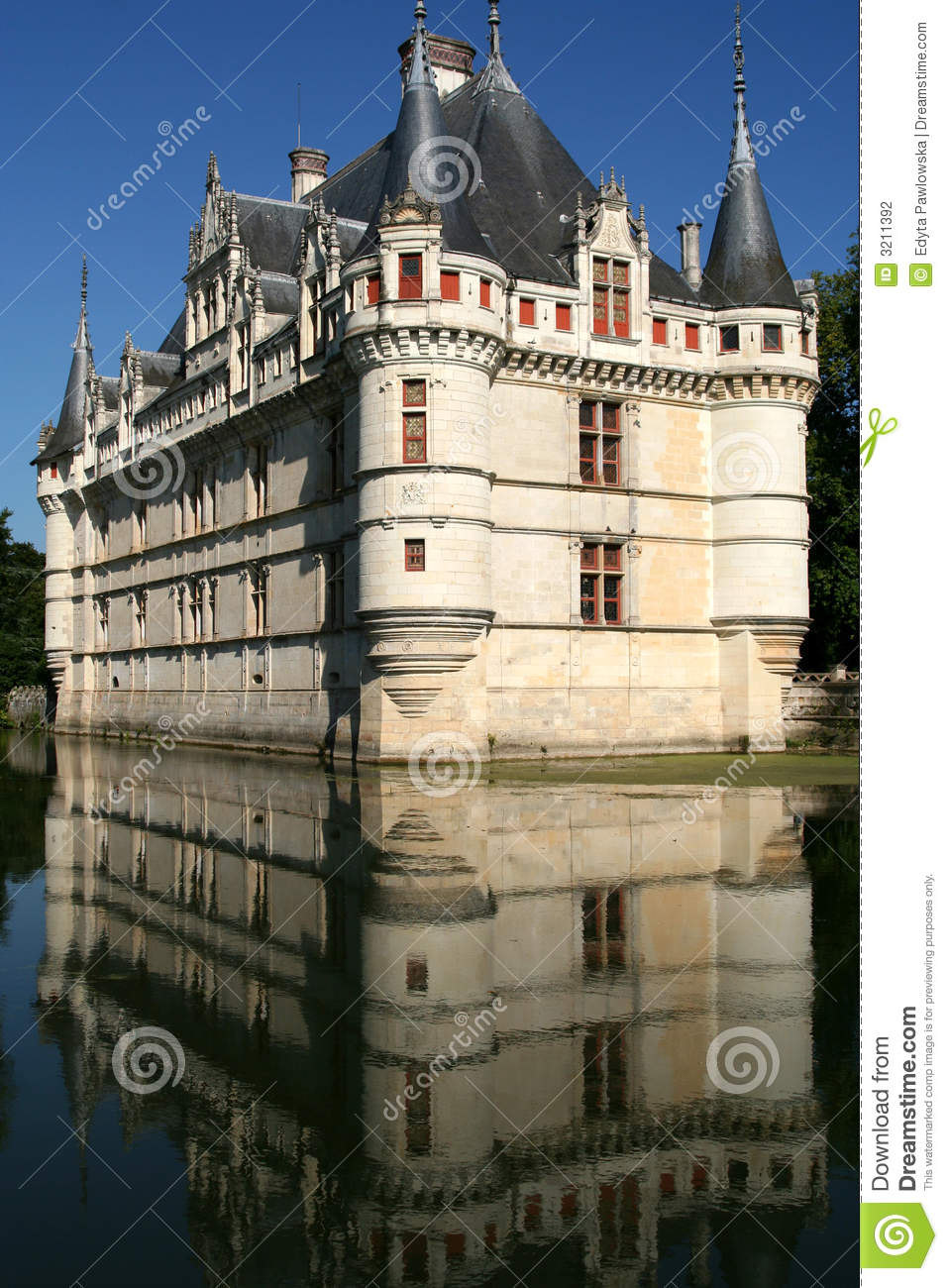azay le rideau castle france stock photography image. Black Bedroom Furniture Sets. Home Design Ideas