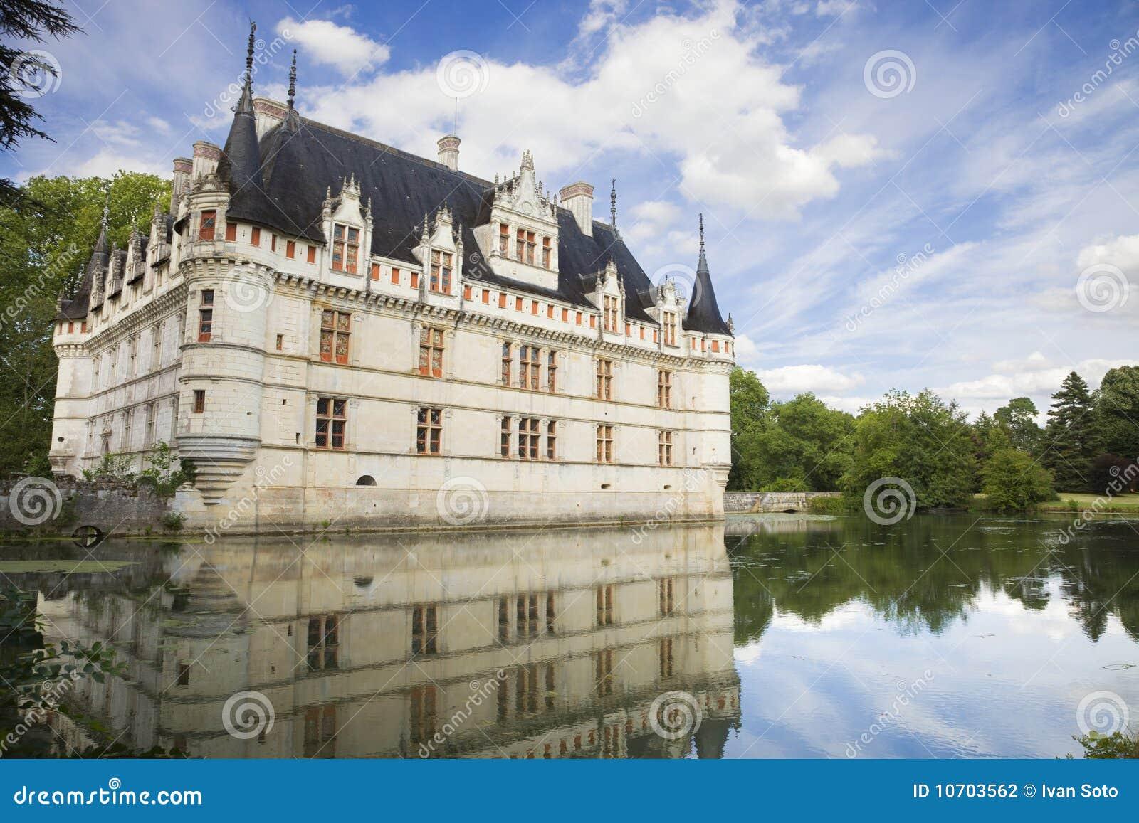 azay le rideau chateau france stock photography image 10703562. Black Bedroom Furniture Sets. Home Design Ideas