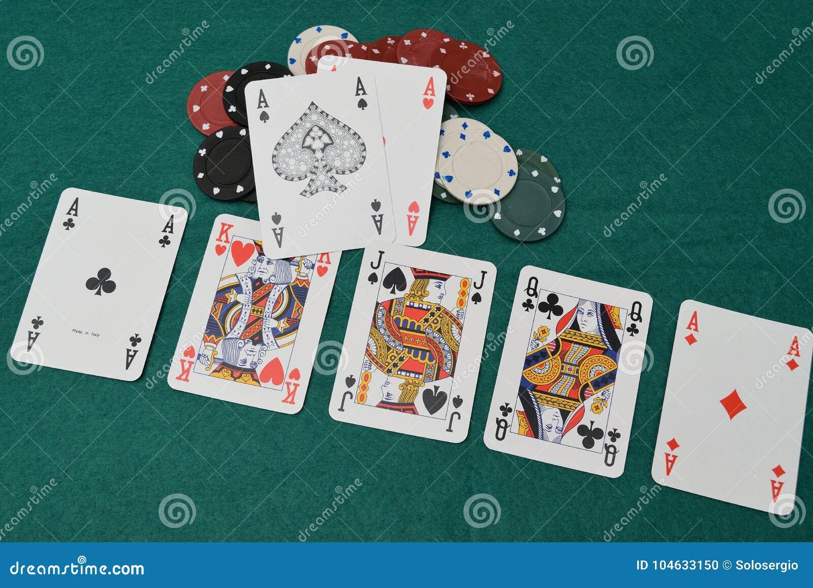 Download Azenpaar Op Een Het Gokken Lijst Stock Foto - Afbeelding bestaande uit casino, kaart: 104633150
