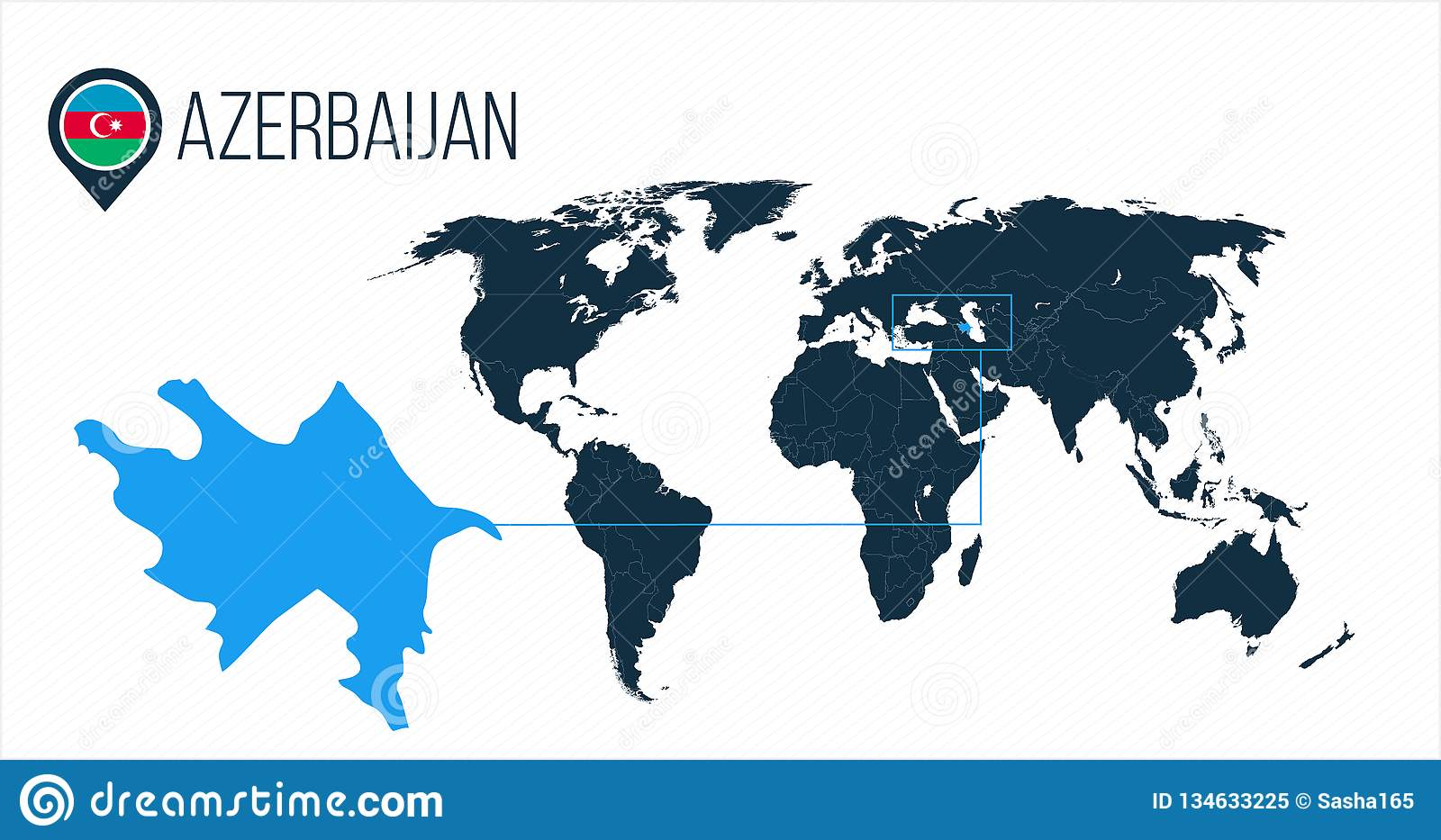 Map Of America Without Names.Azerbaijan Location On The World Map For Infographics All World