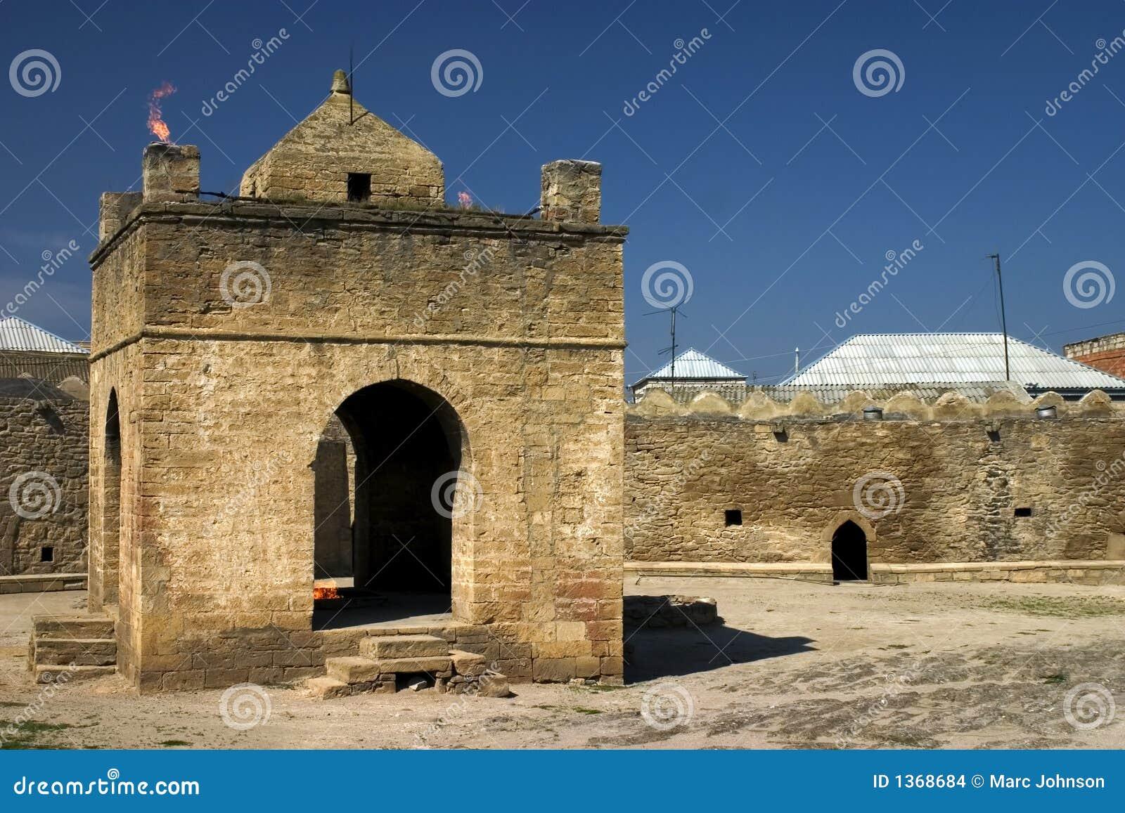 Azerbaijan temple surakhany przeciwpożarowe