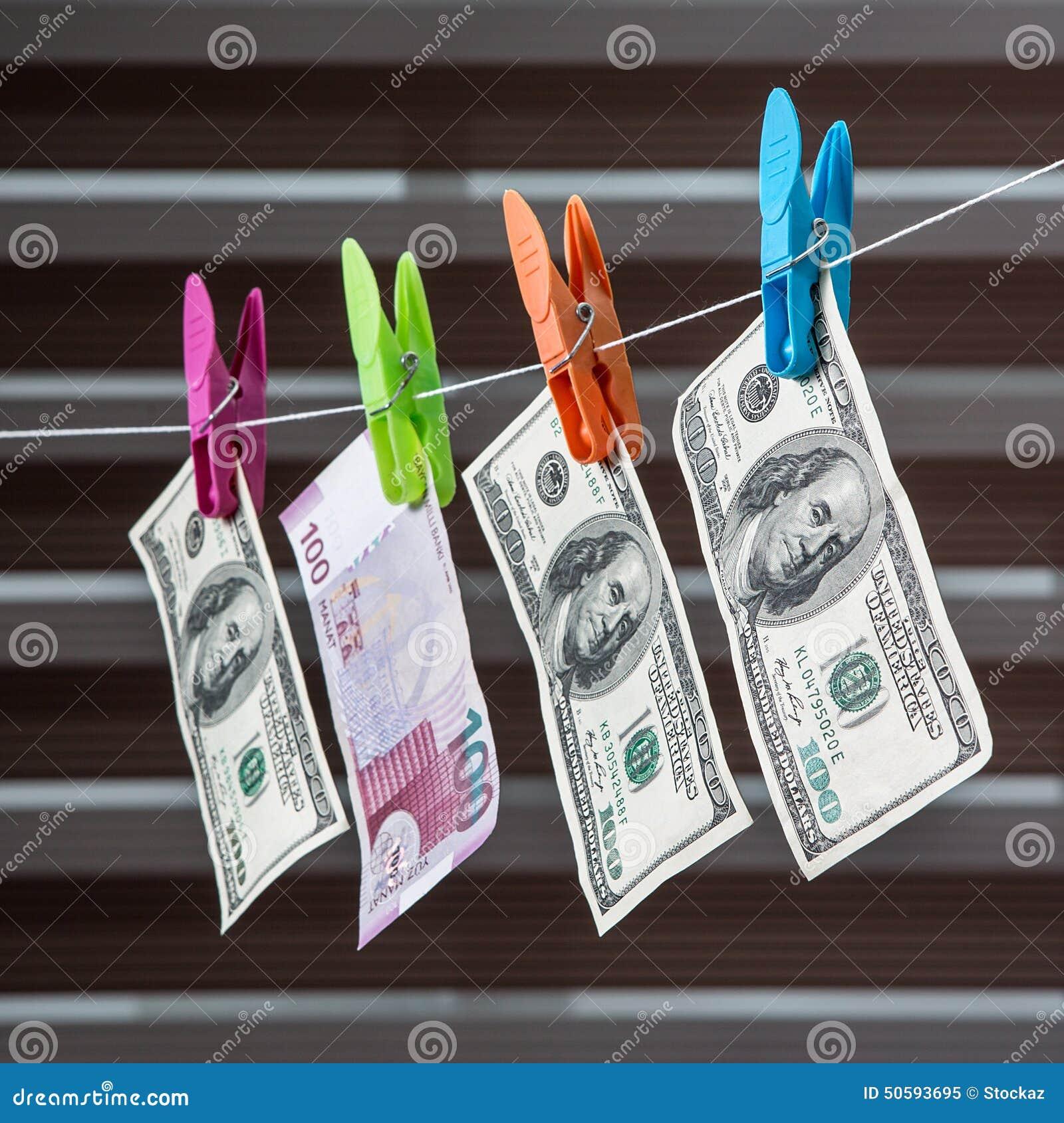 Azerbaijani Manat And Dollar Stock Photo