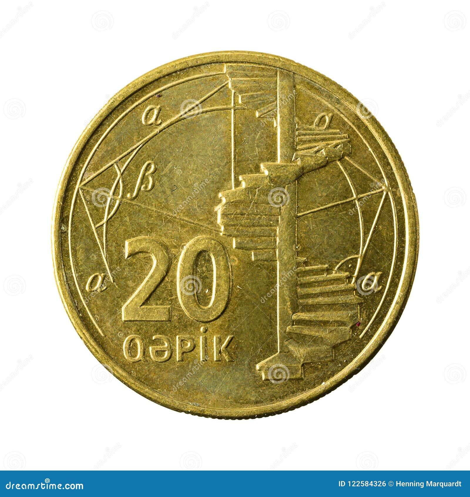 20 azerbaijani qepik coin obverse