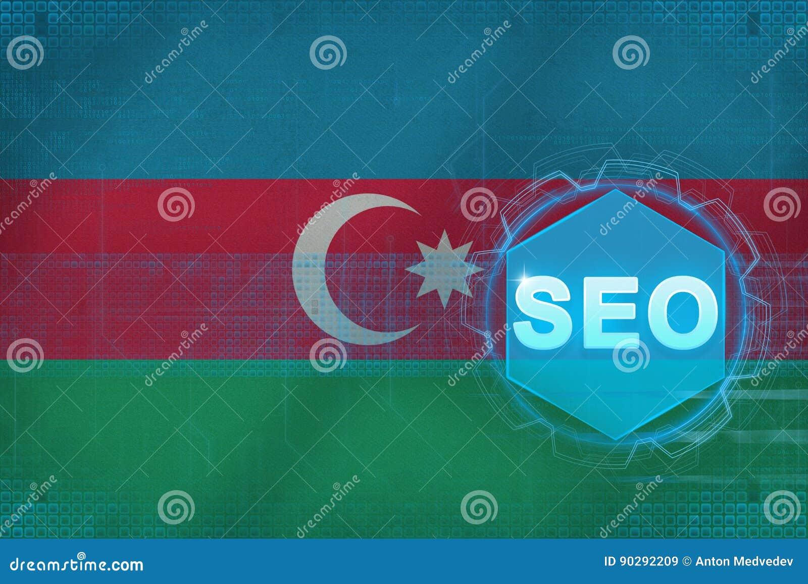 Azerbajdzjan seo (sökandemotoroptimization) frambragd bildseo för dator begrepp
