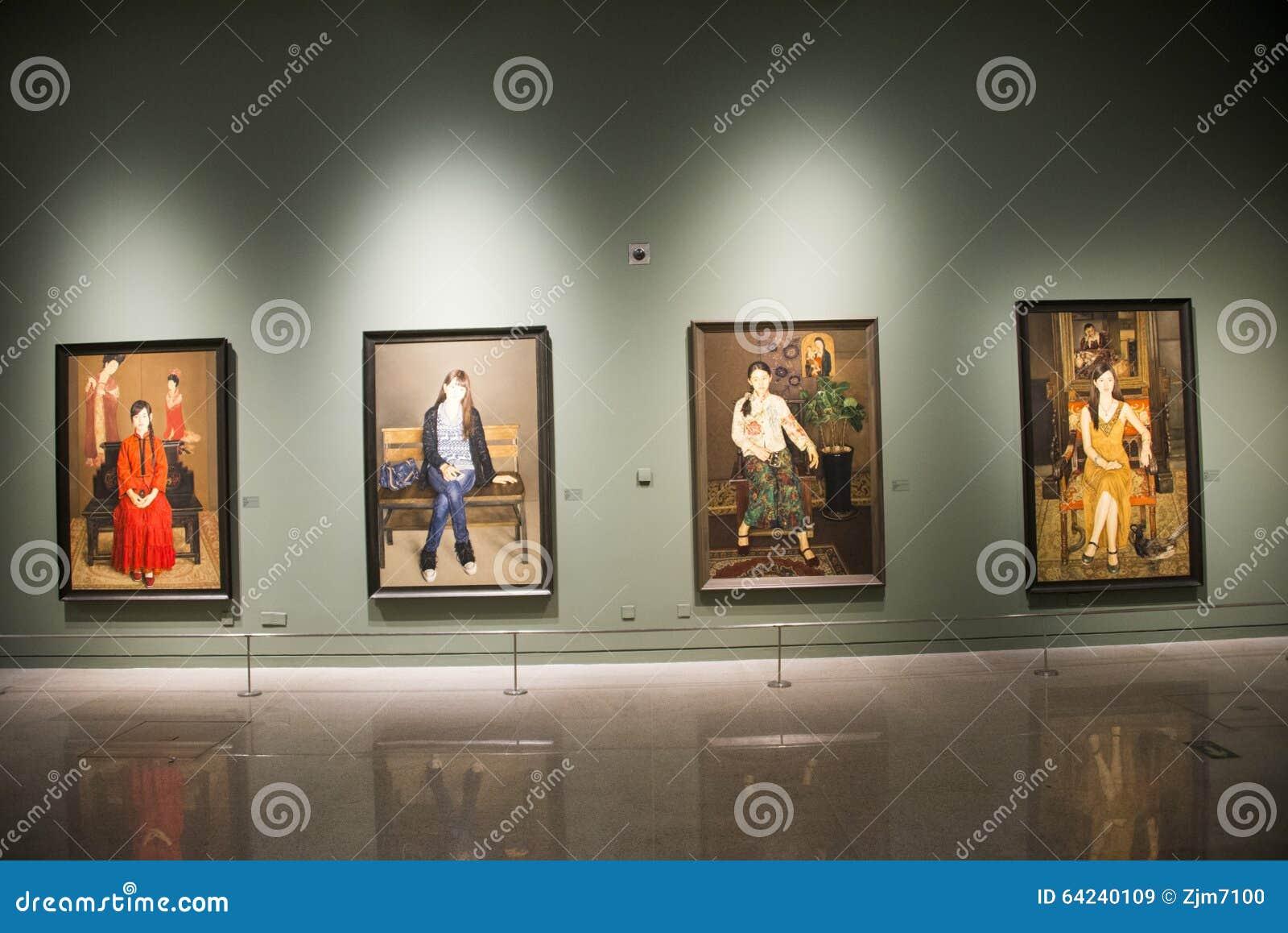 Azië China, Peking, Nationaal Museum, Binnententoonstellingszaal
