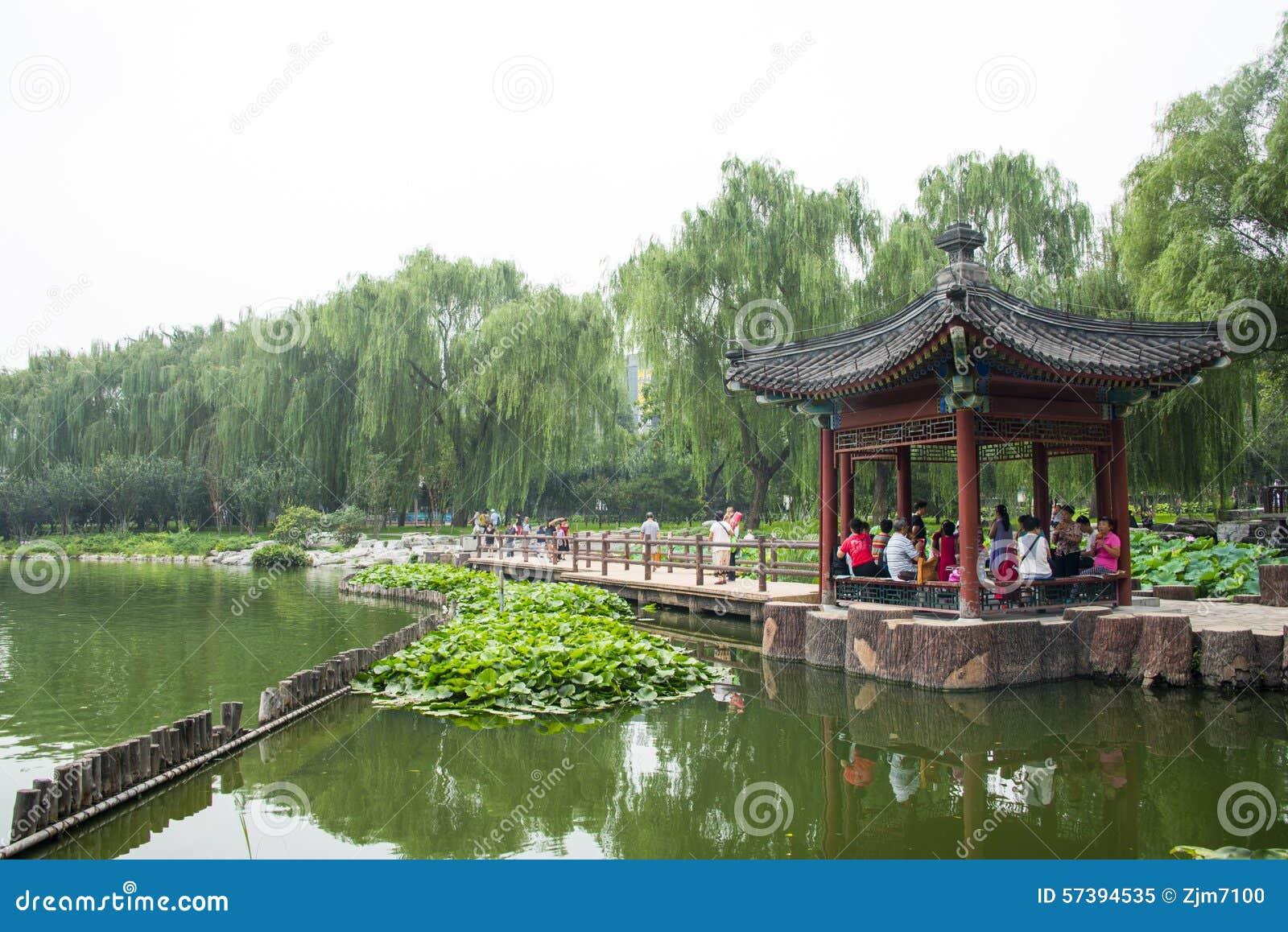 Azië China, Peking, Taoranting-Park ï ¼ Œlakesideï ¼ ŒPavilion