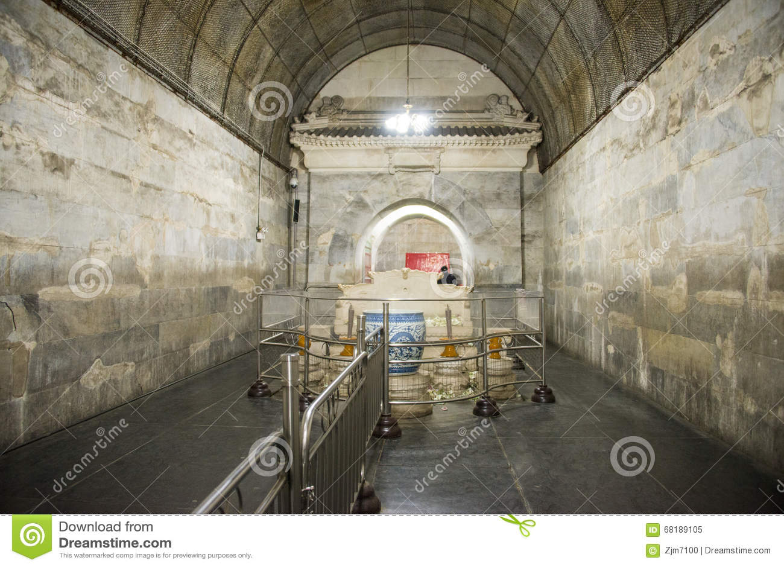 Azië Chinees, Peking, het graf Œunderground palaceï ¼ ŒUnderground van Ming Dynasty Tombsï ¼