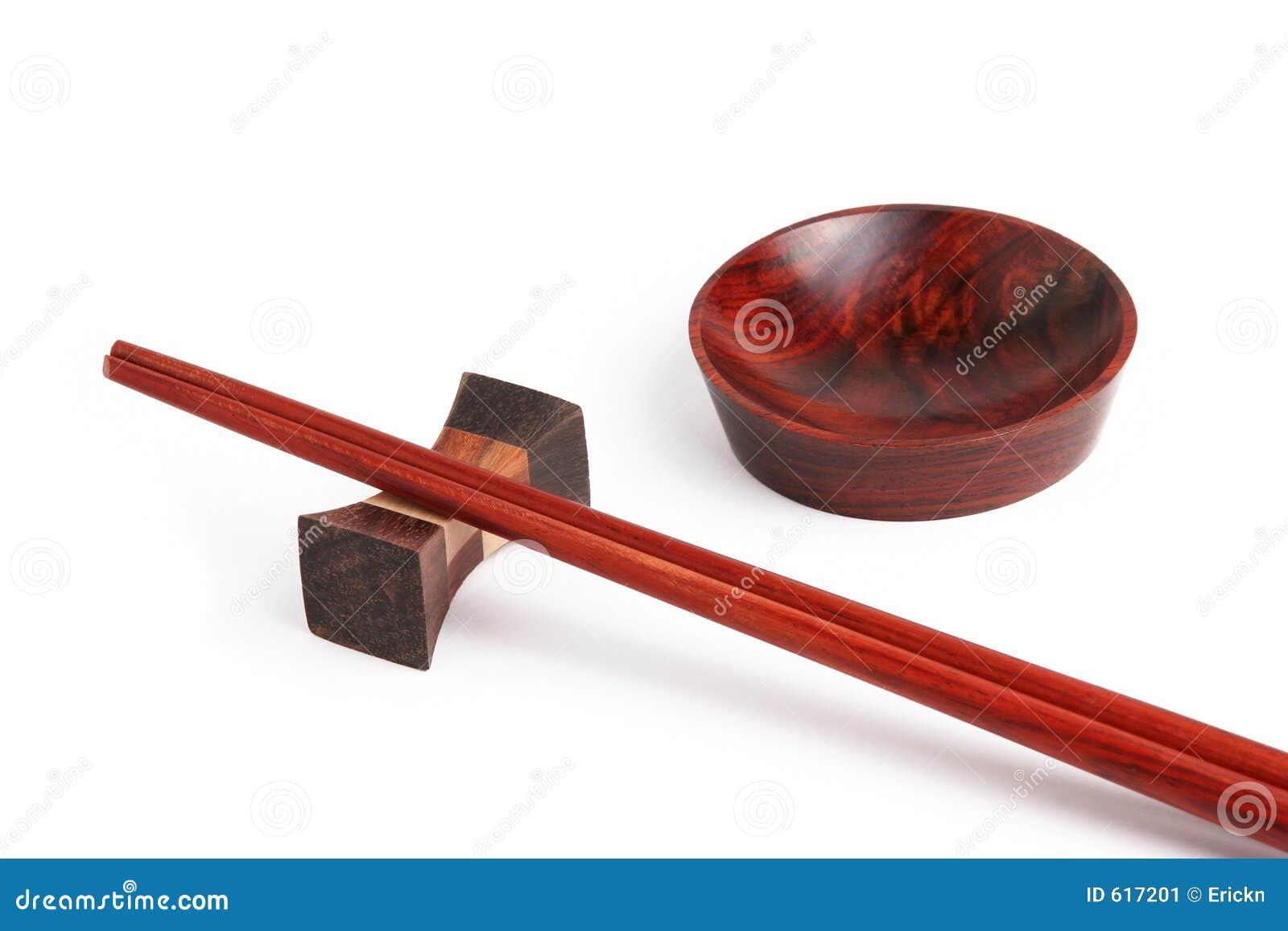 Aziatisch houten vaatwerk