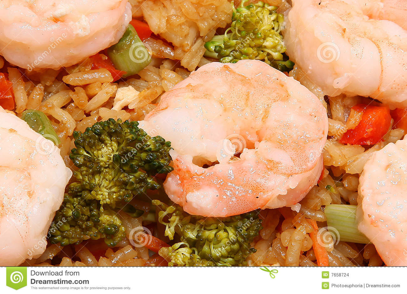 Aziatische Garnalen Gebraden Rijst