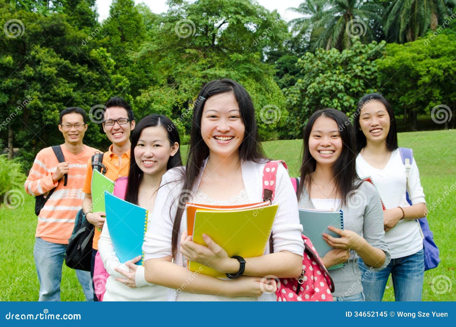 Aziatische studenten