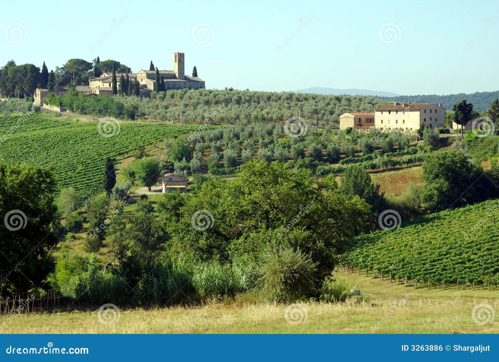 Aziende agricole in Toscana, Italia