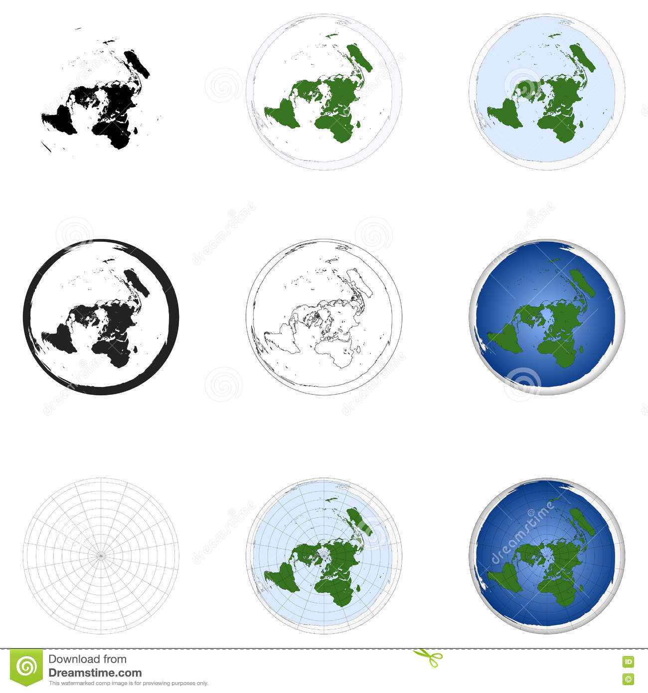azimuthal map projection Map projections the world we live in  there is the conventional (or, in the case of an azimuthal projection  elements of map projection by deetz and adams,.