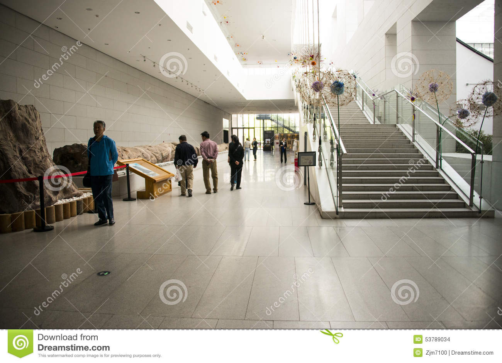 Azja chińczyk, Pekin, Chiny Ogrodowy muzeum, salowa powystawowa sala