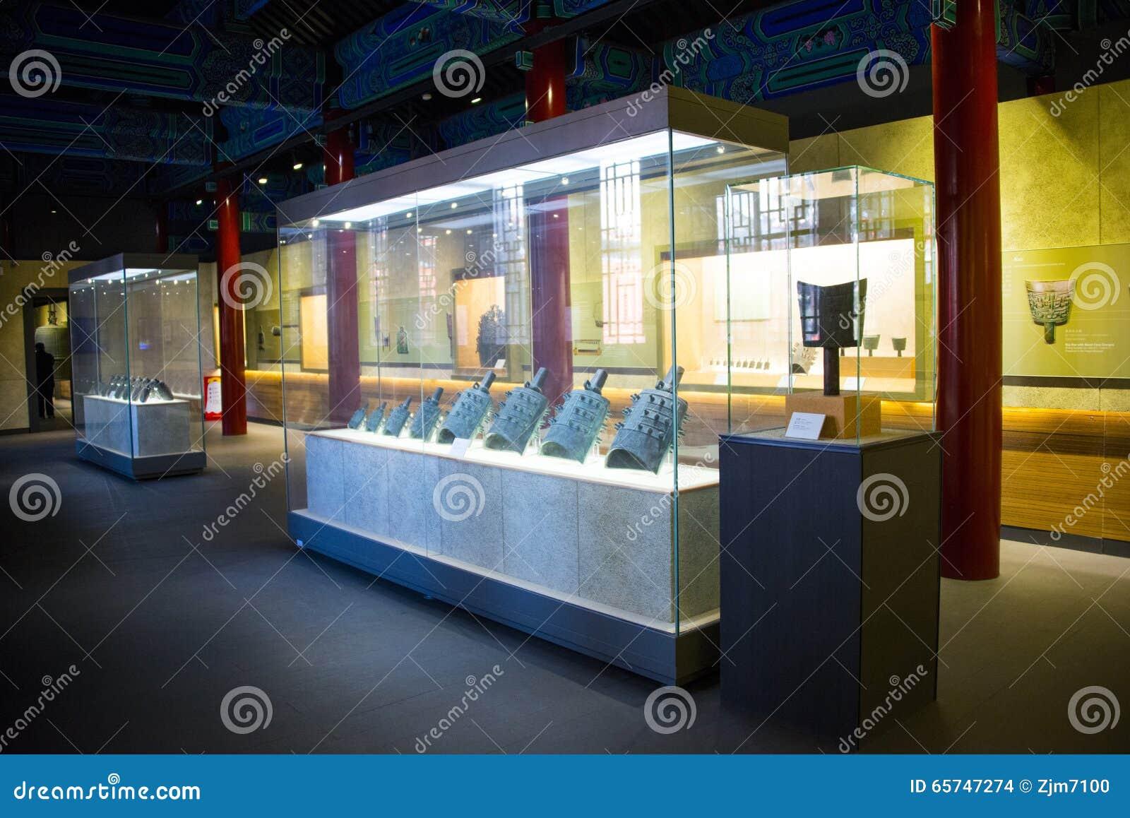 Azja chińczyk, Pekin, Dazhongsi Museumï ¼ ŒIndoor exhibitionï ¼ Œancient chime Antyczny Dzwonkowy dzwon