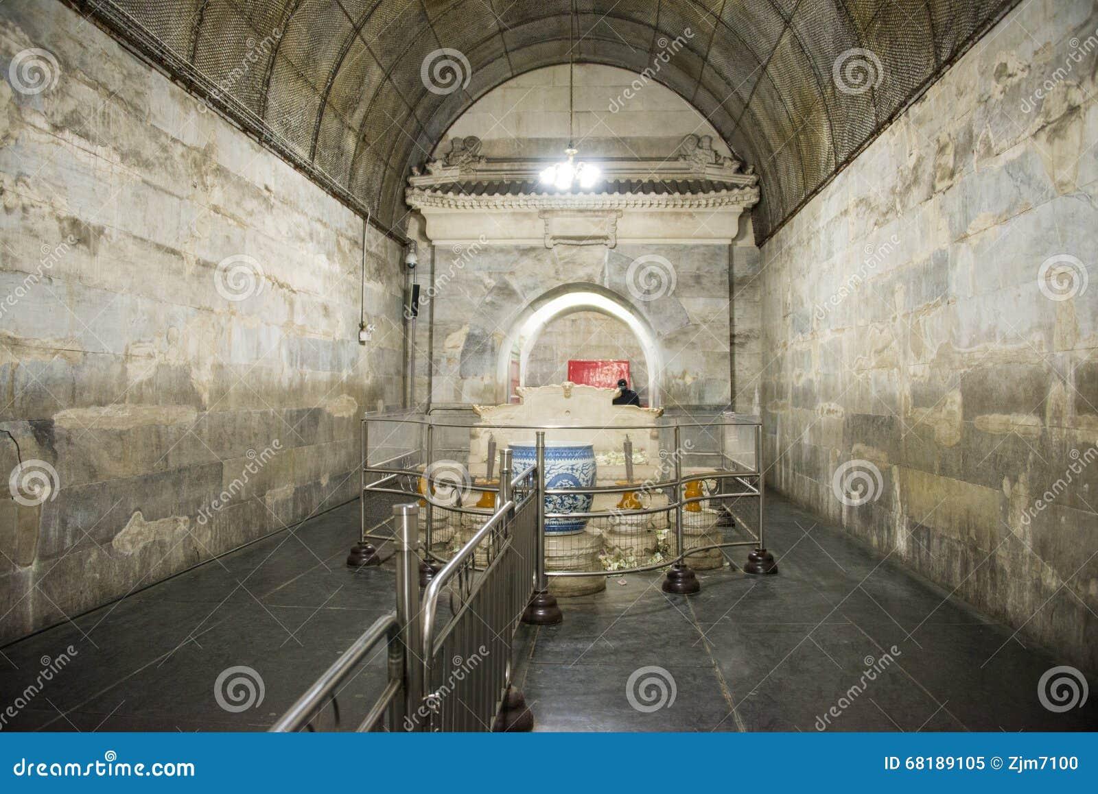 Azja chińczyk, Pekin, Ming dynastii Tombsï ¼ Œunderground palaceï ¼ ŒUnderground grobowiec