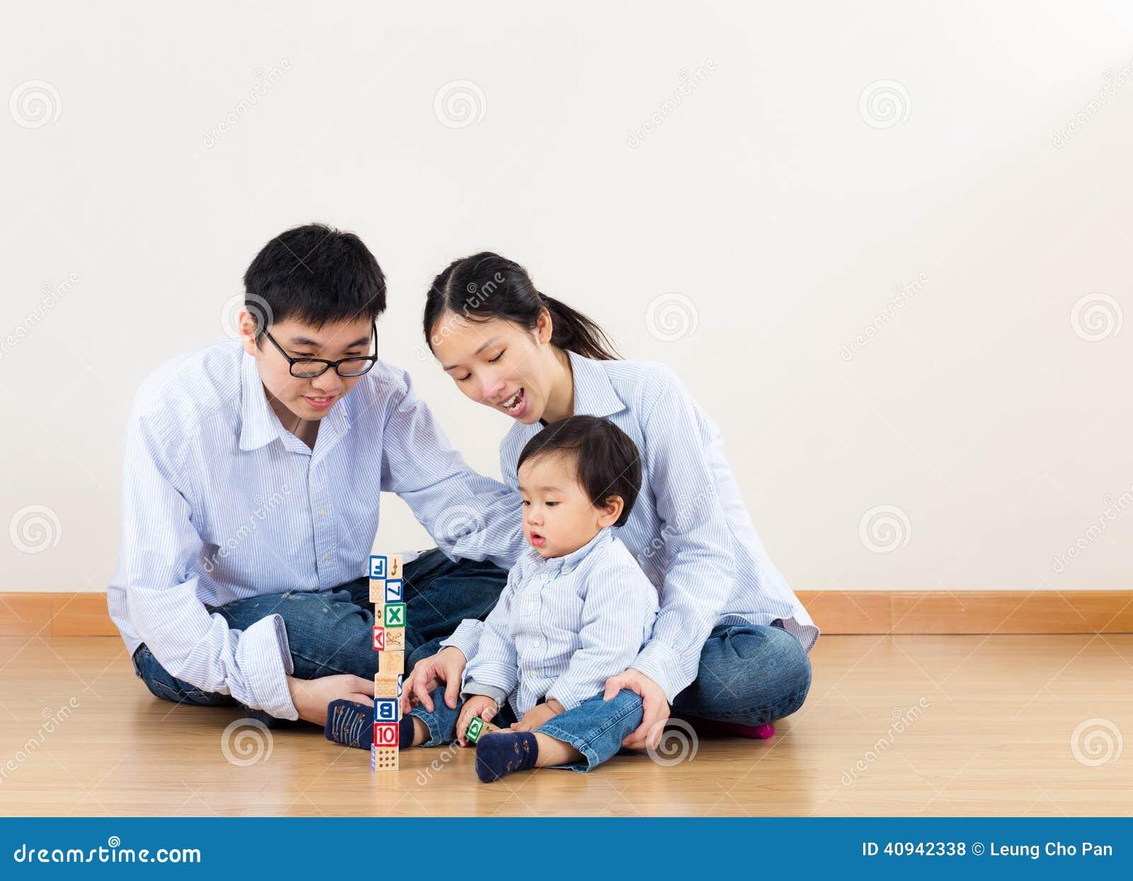 Azja rodzinna sztuka wpólnie
