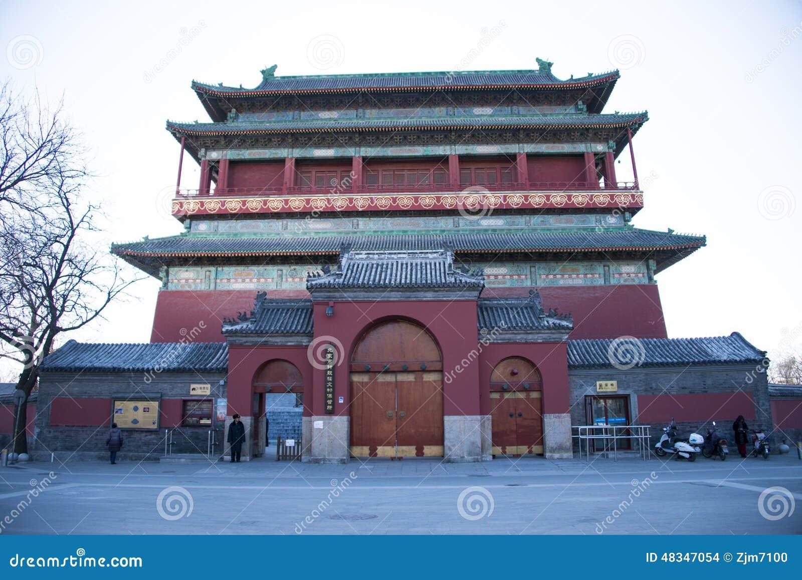 Azjata Chiny, Gulou, Pekin, historyczni budynki,