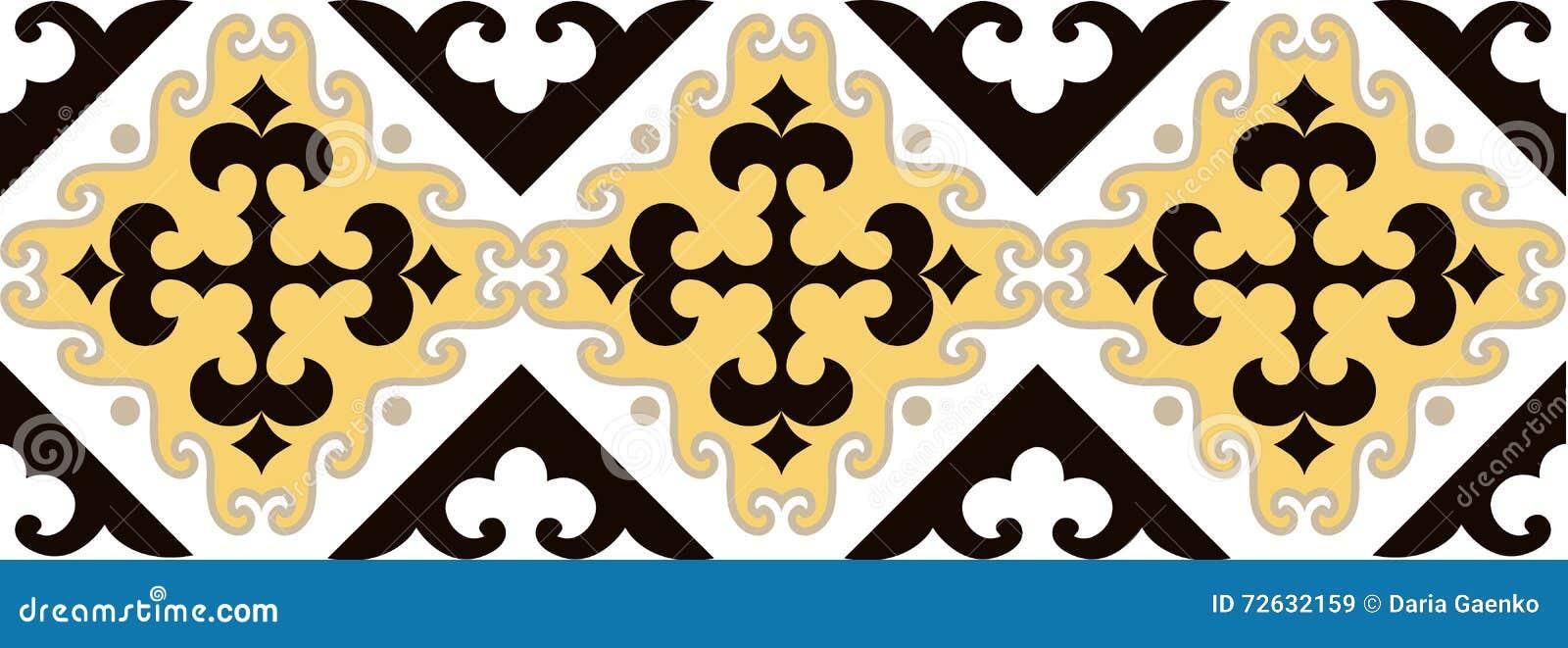 Azjata ornamentuje kolekcję Historycznie ornamentacyjny koczowniczy ludzie Ja opierał się na kazach dywanach odczuwany i wełna