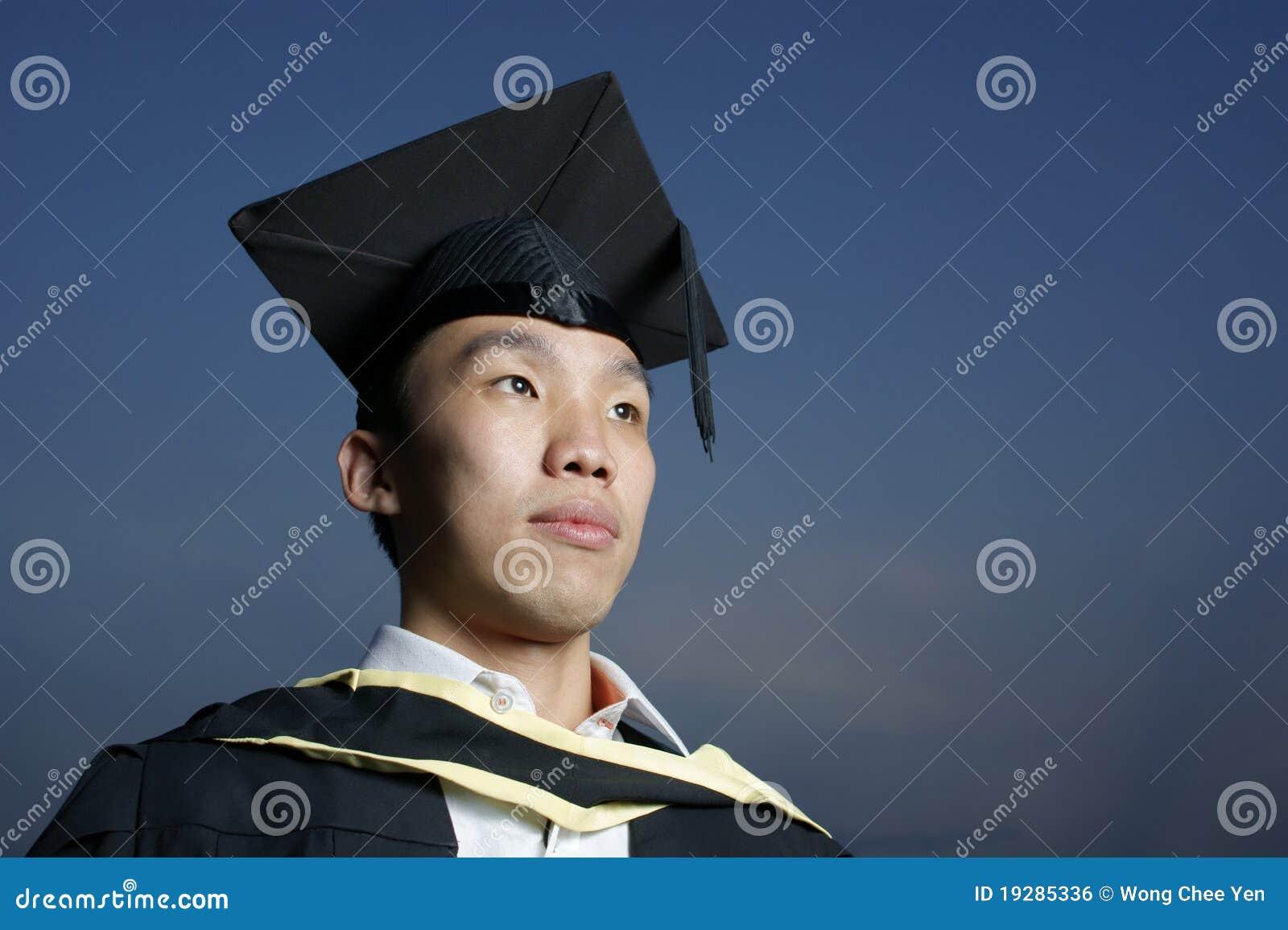 Azjata poważny magisterski
