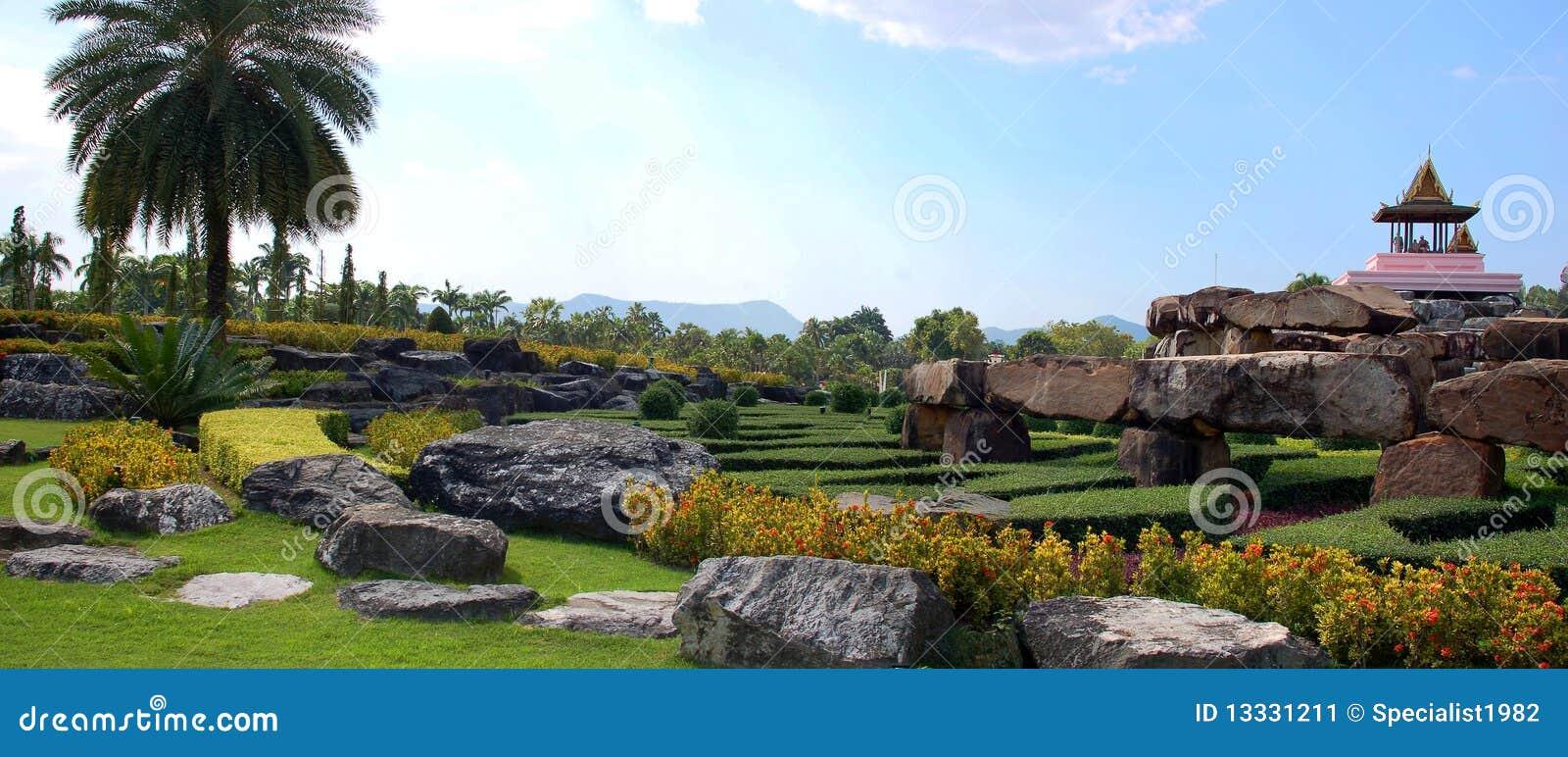 Azjata tradycyjny krajobrazowy panoramiczny