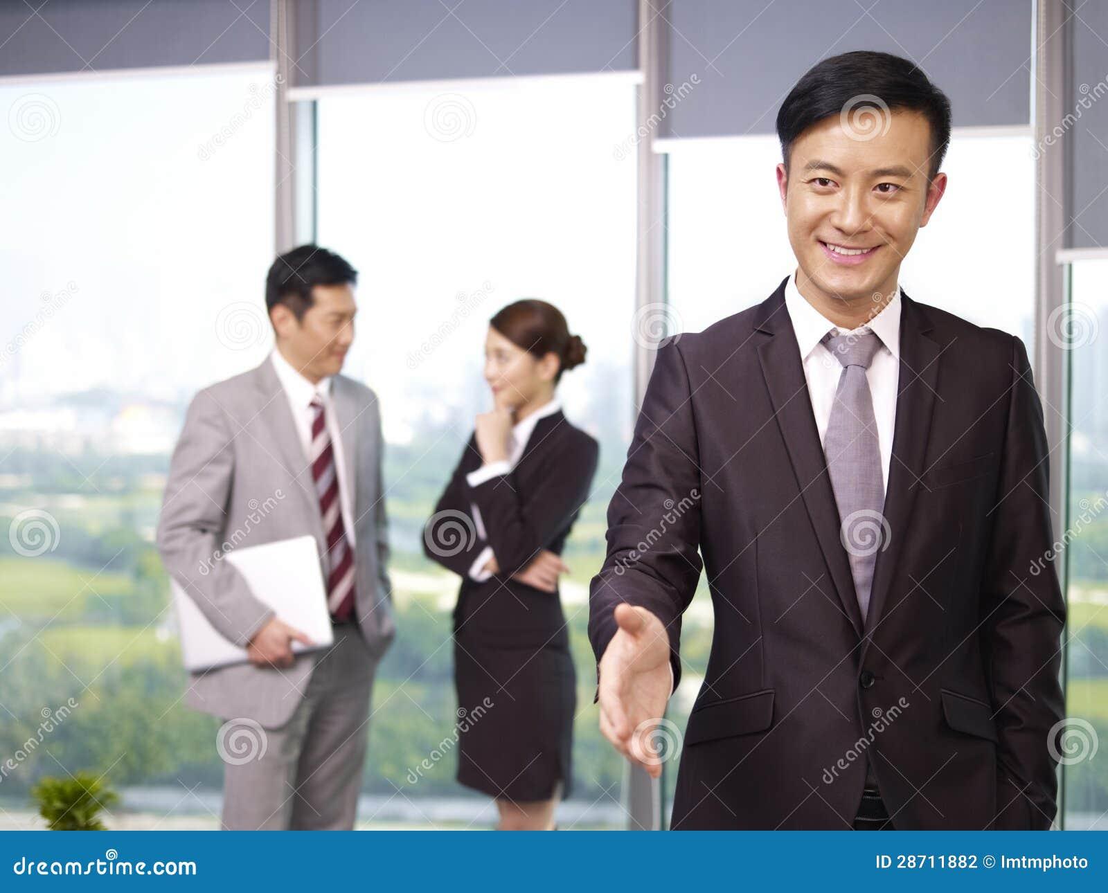 Azjatyccy ludzie biznesu