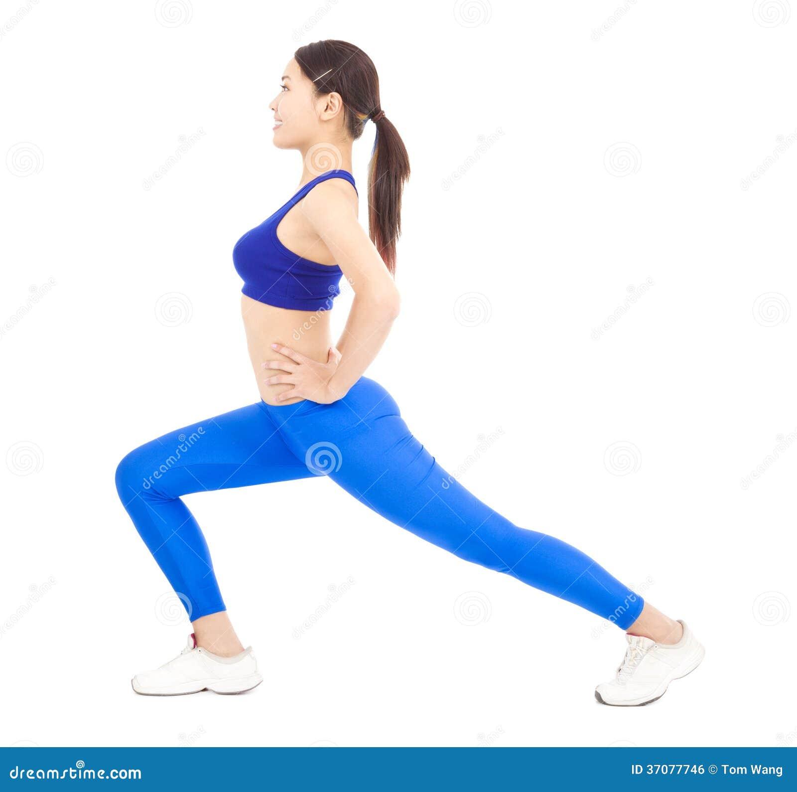 Download Azjatycka Młoda Kobieta Robi Sedno Treningowi Zdjęcie Stock - Obraz złożonej z równowaga, lyme: 37077746