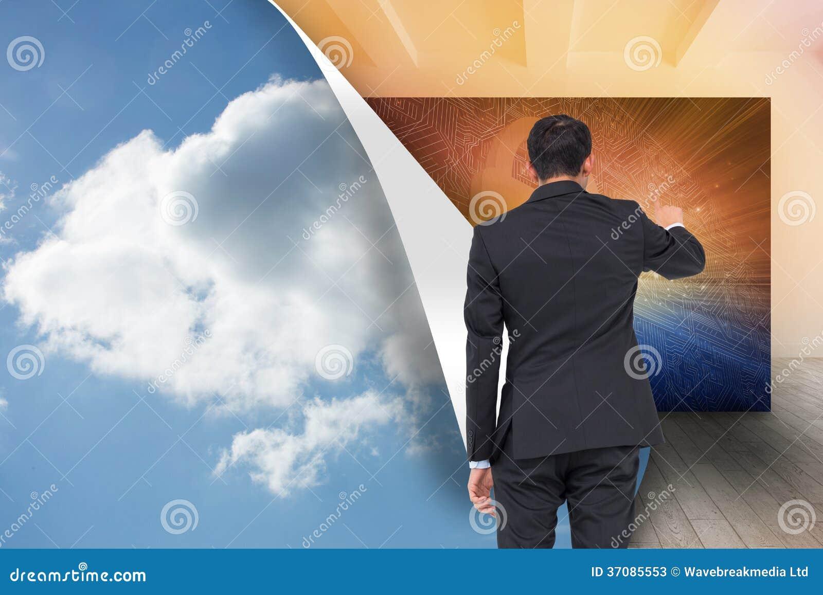 Download Azjatycki Biznesmena Wskazywać Obraz Stock - Obraz złożonej z błękitny, hairball: 37085553