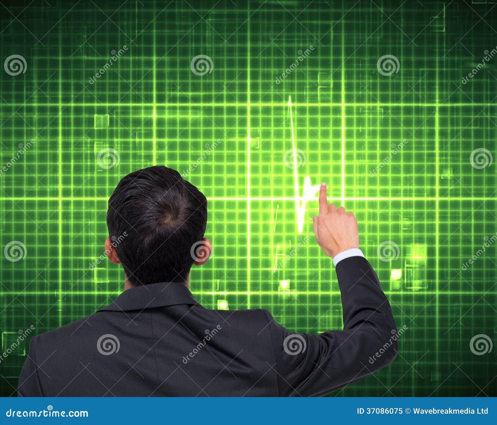 Download Azjatycki Biznesmena Wskazywać Obraz Stock - Obraz złożonej z machine, kwadraty: 37086075