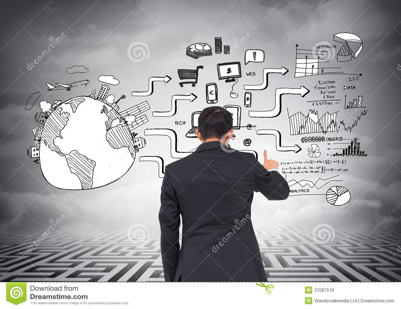 Download Azjatycki Biznesmena Wskazywać Zdjęcie Stock - Obraz złożonej z markham, mężczyzna: 37087518