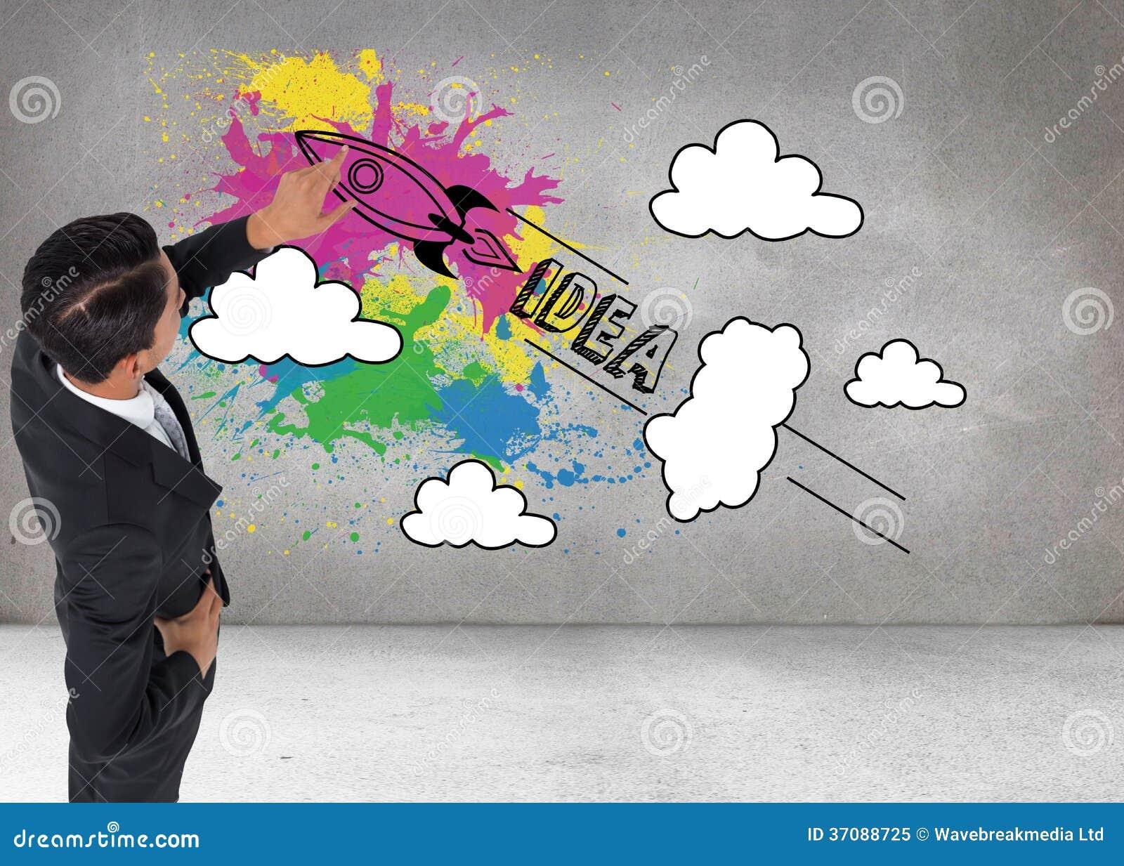 Download Azjatycki Biznesmena Wskazywać Obraz Stock - Obraz złożonej z pomysł, innovate: 37088725