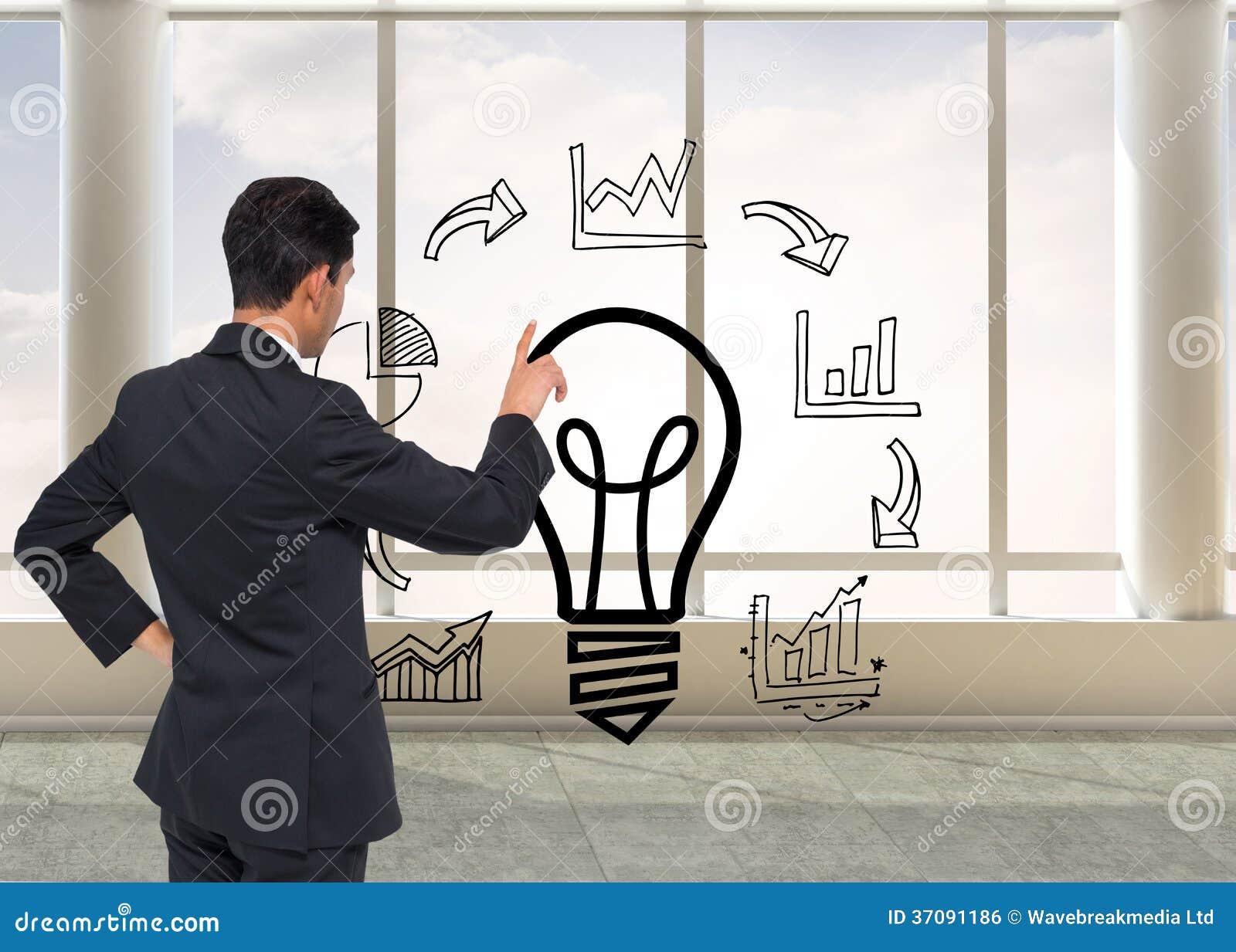 Download Azjatycki Biznesmena Wskazywać Zdjęcie Stock - Obraz złożonej z dane, chmury: 37091186
