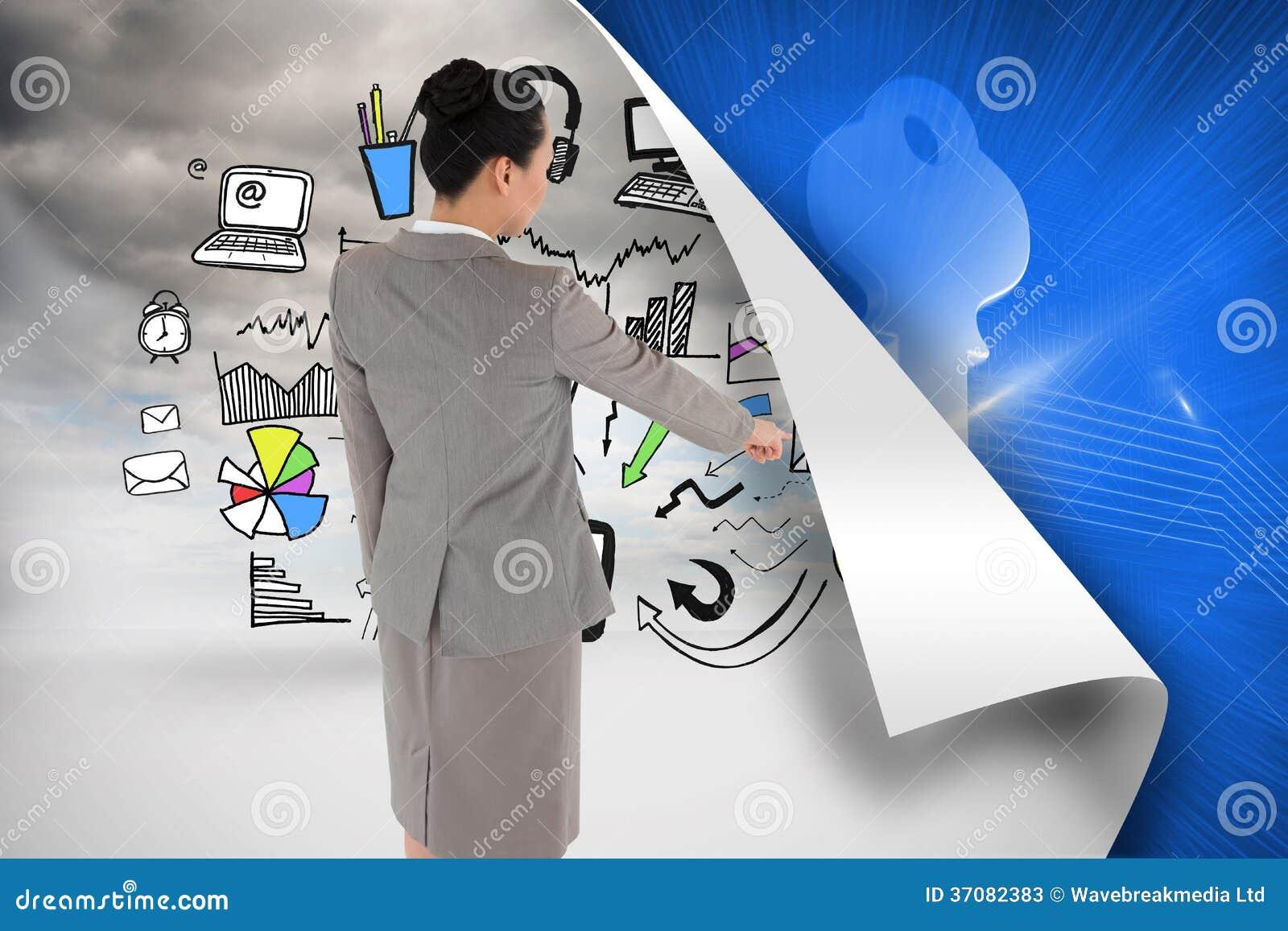 Download Azjatycki Bizneswomanu Wskazywać Obraz Stock - Obraz złożonej z jasny, kręcenie: 37082383