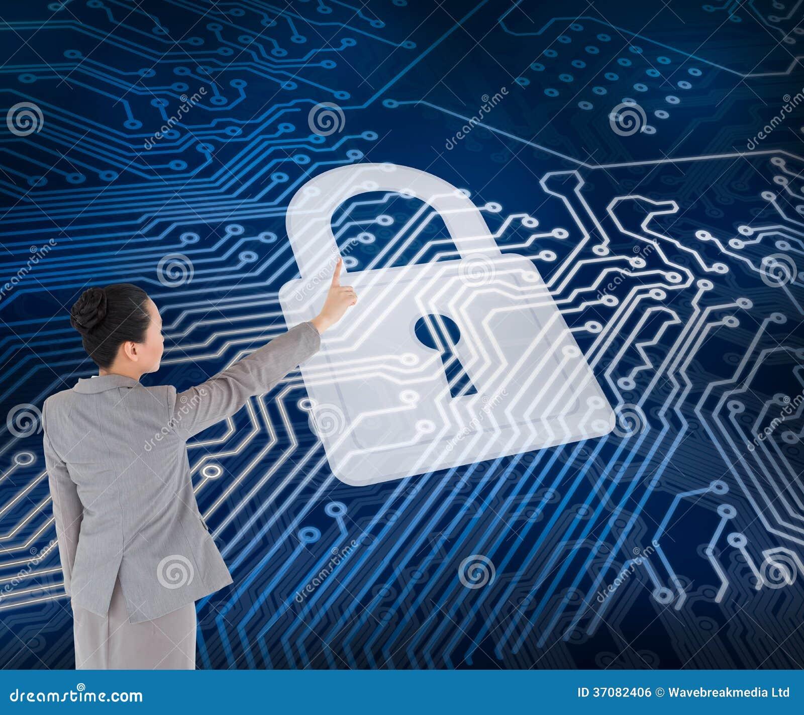 Download Azjatycki Bizneswomanu Wskazywać Zdjęcie Stock - Obraz złożonej z deska, technologia: 37082406