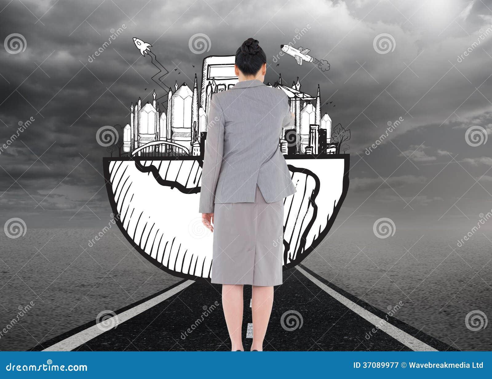 Download Azjatycki Bizneswomanu Wskazywać Obraz Stock - Obraz złożonej z wytwarza, komputer: 37089977
