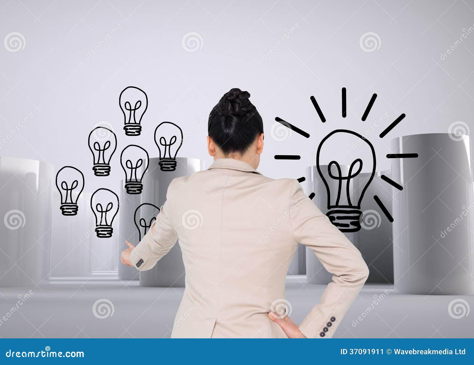 Download Azjatycki Bizneswomanu Wskazywać Obraz Stock - Obraz złożonej z światło, wallah: 37091911