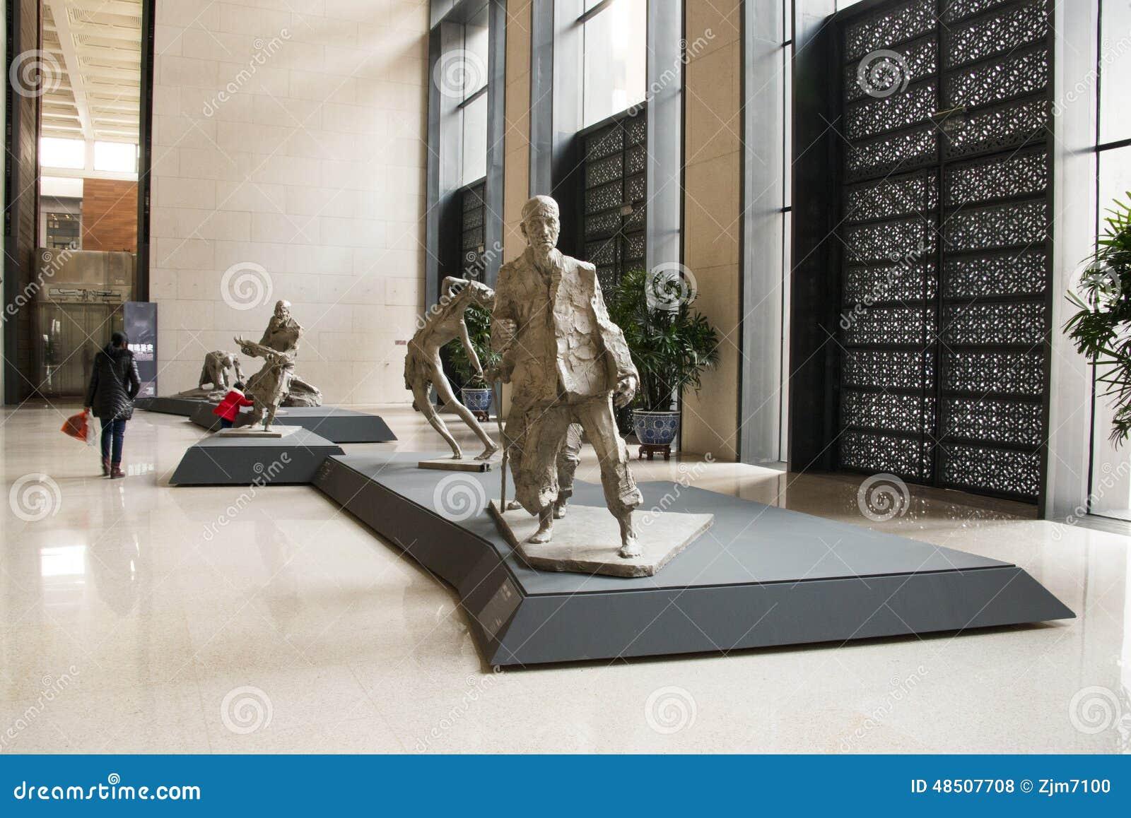 Azjatycki chińczyk, Pekin, muzeum narodowe, temat rzeźba