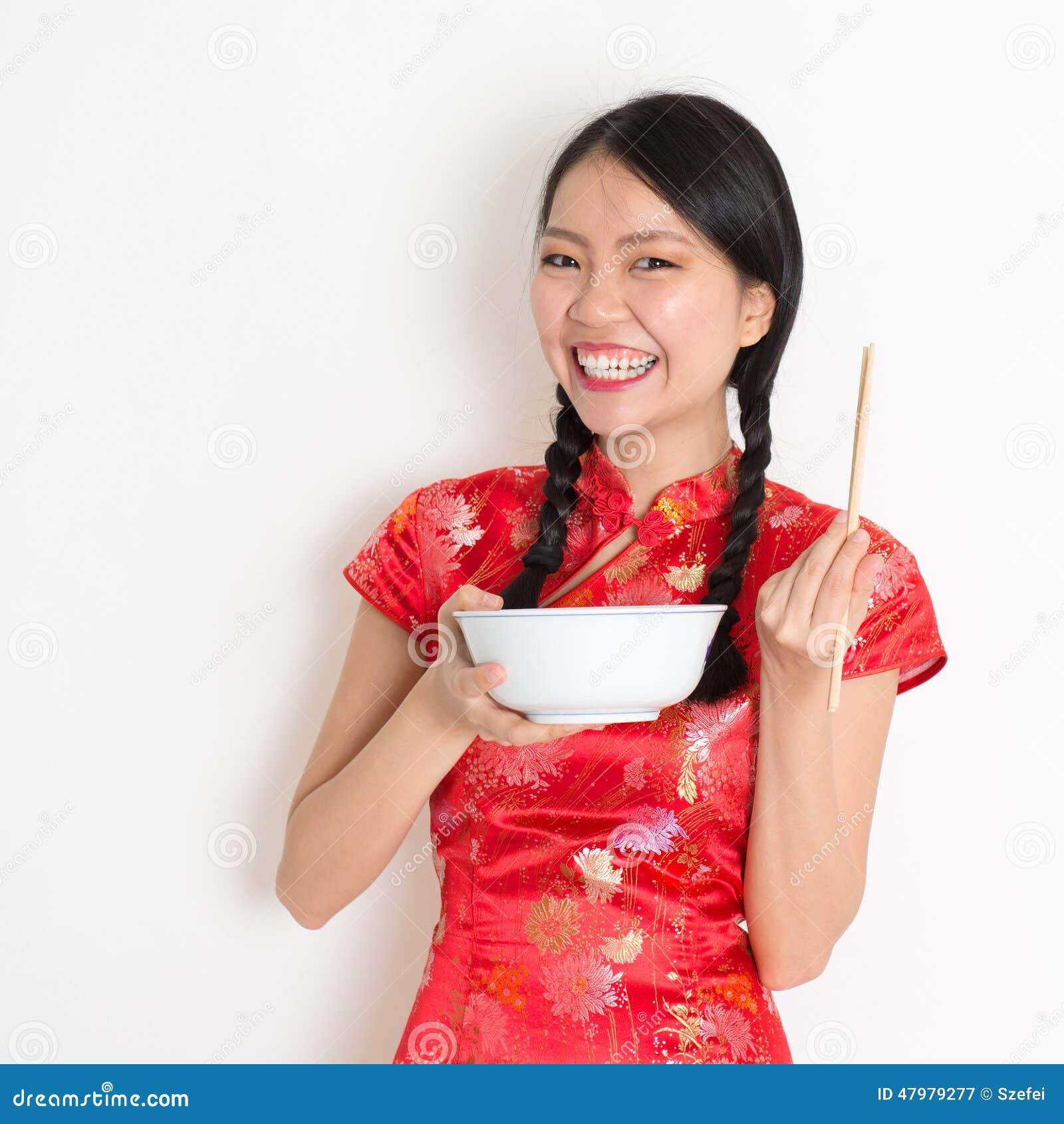 Azjatycki Chiński dziewczyny łasowanie