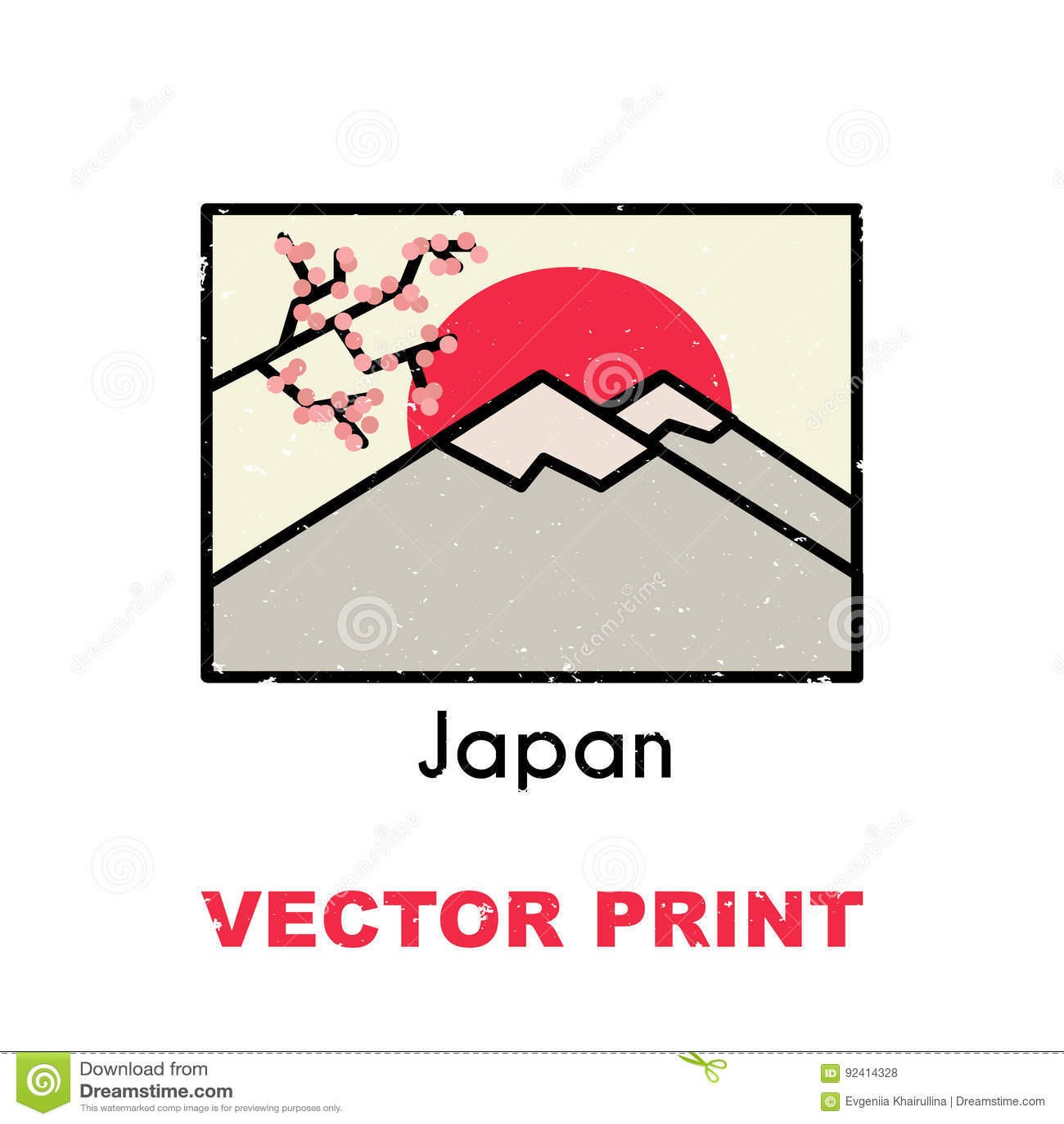 Azjatycki Koszulka Druk Także Używać Dla Pocztówki Kubek