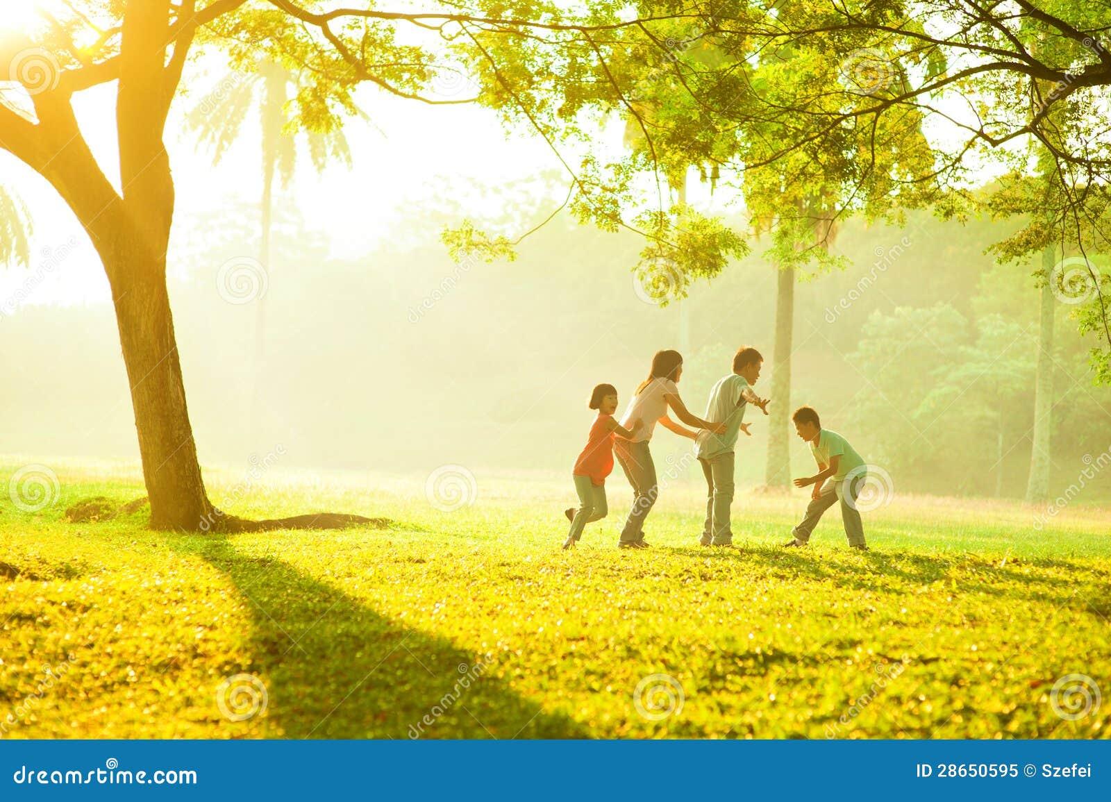 Azjatycki rodzinny plenerowy ilość czas