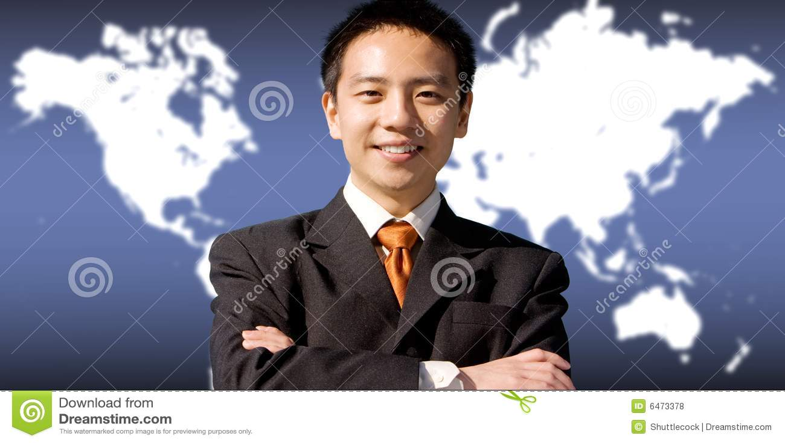 Azjatykci biznesmen