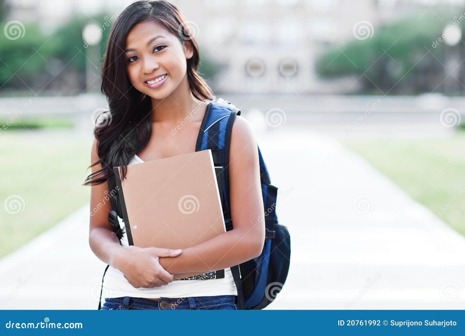 Azjatykci student collegu