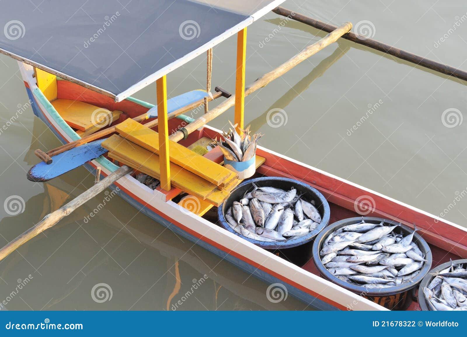 Azjatykcia łodzi ryba połowu odsadnia