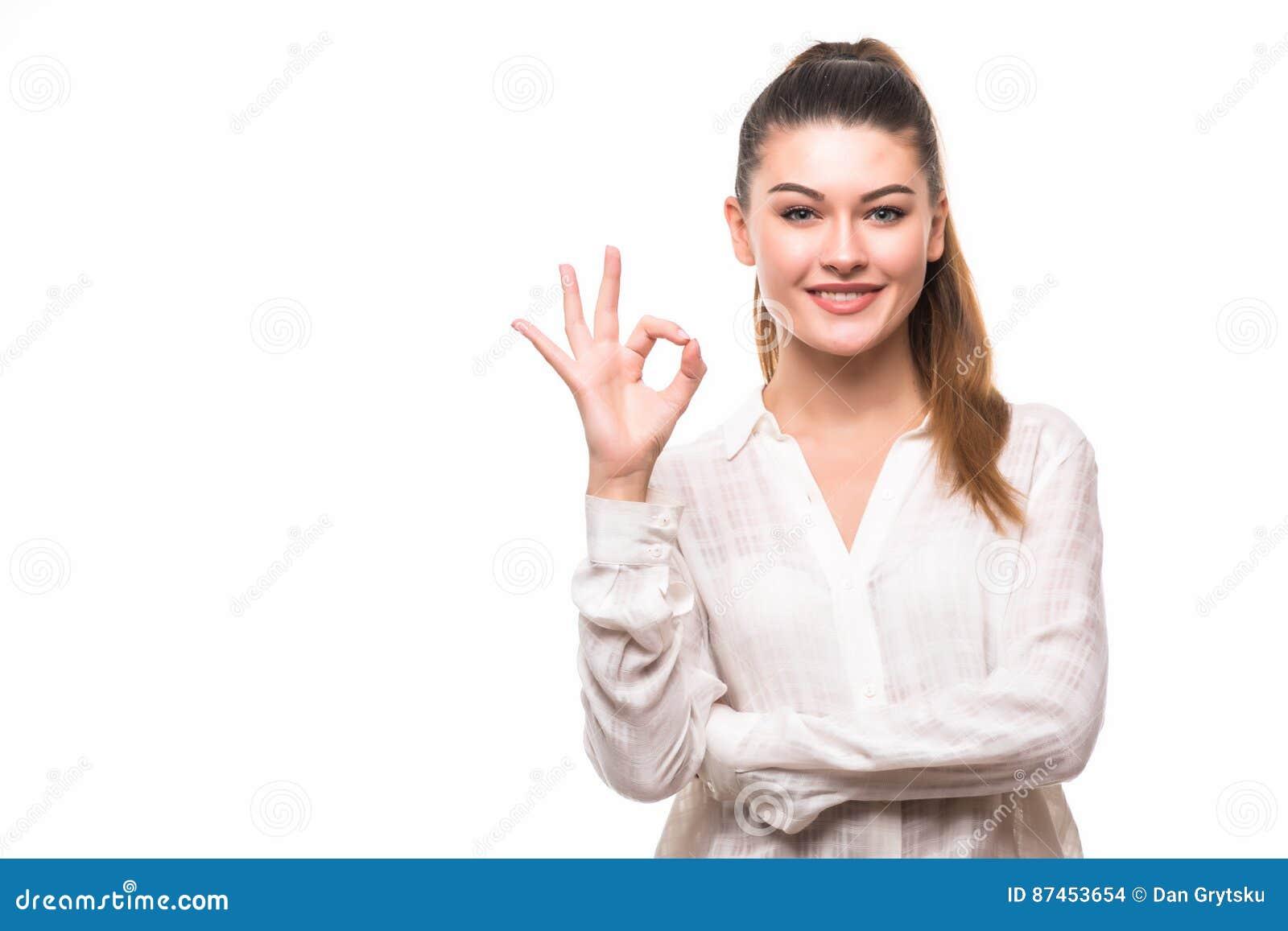 Azjatykciego tła biznesowego bizneswomanu biznesowego ręki szczęśliwego odosobnionego ładnego seans szyldowi uśmiechnięci białej
