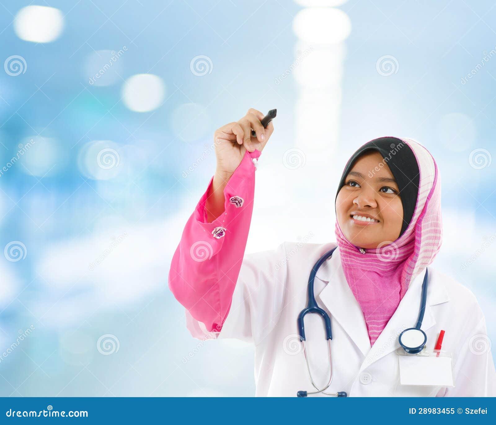 Azji Południowo Wschodniej Muzułmański student medycyny