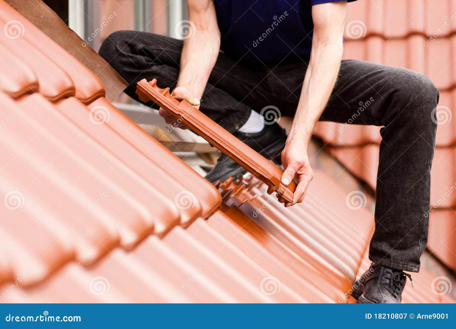 Azotea de la cubierta del solador con el nuevo azulejo