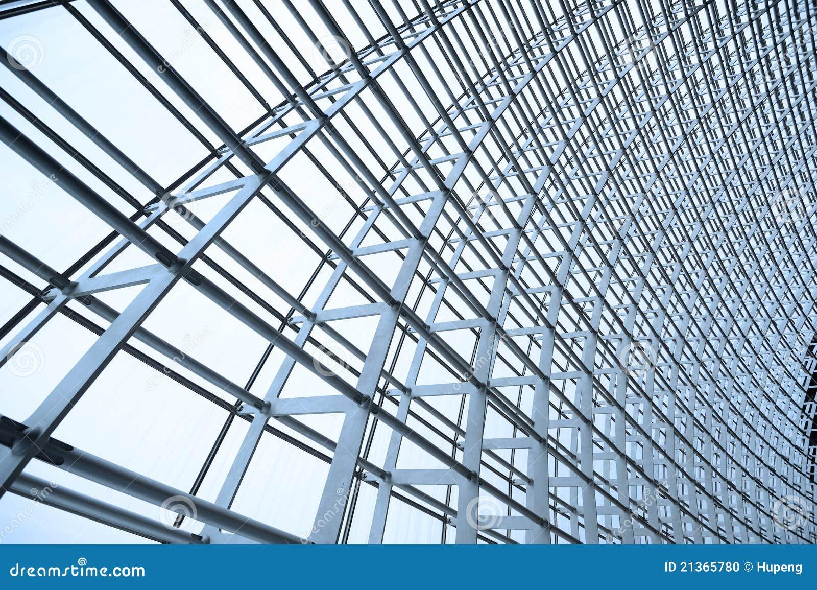 Azotea De La Estructura De Acero Y Del Vidrio Foto De