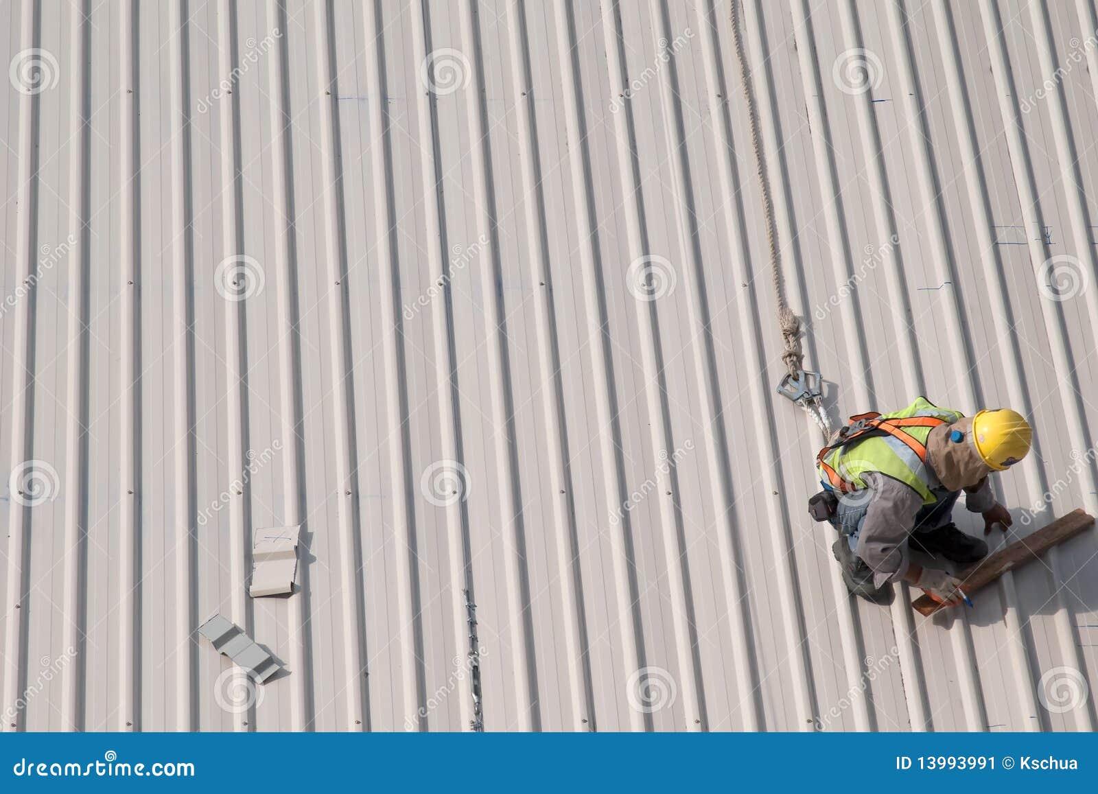 Azotea de la marca del trabajador de construcción