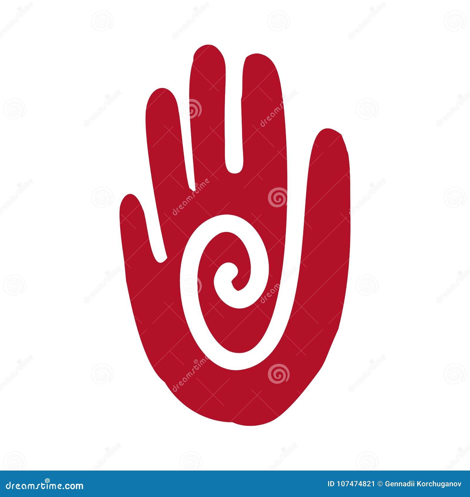 Aztèque d icône de main