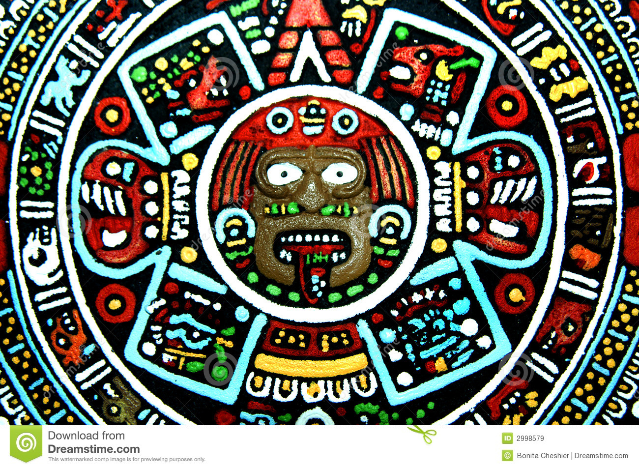 Aztec Art Reproduction... Aztec Warrior Face Paint